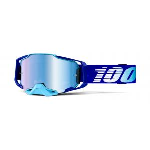 Motokrosové brýle 100% ARMEGA Royal modré (modré plexi)