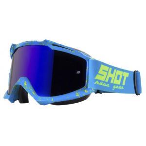 Motokrosové brýle Shot Iris Scratch modro-fluo žluté