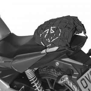 Pružná zavazadlová síť Oxford pro motocykly reflexní černá