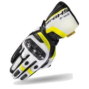 Rukavice Shima STR-2 černo-bílo-fluo žluté