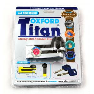 Zámek kotoučové brzdy Oxford Titan chrom