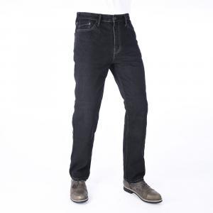 Zkrácené jeansy na motorku Oxford Original Approved Jeans černé výprodej