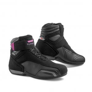 Dámské boty na motorku Stylmartin Vector WP černo-růžové výprodej