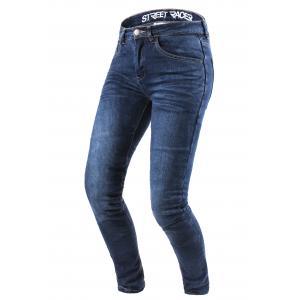 Dámské jeansy na motorku Street Racer Daily modré