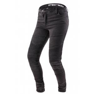 Dámské jeansy na motorku Street Racer Spike černé výprodej