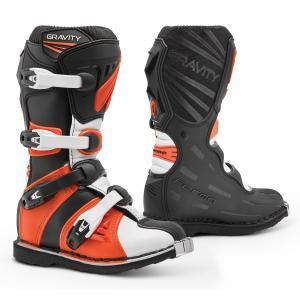 Dětské boty na motorku Forma Gravity černo-oranžové