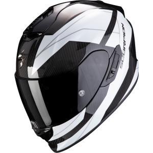 Integrální přilba Scorpion EXO-1400 Carbon Air Legione černo-bílá