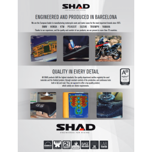 Komfortní sedlo SHAD SHS0G721C černé, červené švy