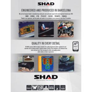 Komfortní sedlo SHAD SHS0V1409H vyhřívané černé, červené švy