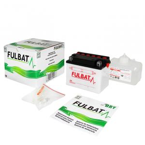 Konvenční motocyklová baterie FULBAT FB12A-B  (YB12A-B) Včetně balení kyseliny