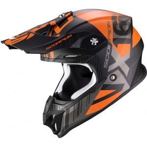 Motokrosová přilba Scorpion VX-16 Air Mach černo-oranžová