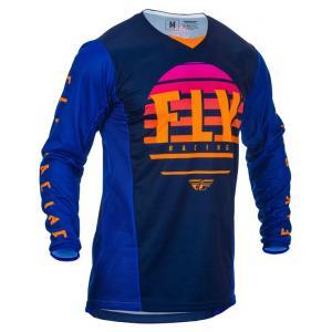 Motokrosový dres FLY Racing Kinetic K220 2020 černo-modro-oranžový výprodej