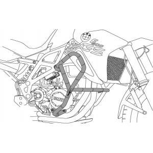 Ochranné rámy motoru PUIG 3572N d 25mm černý