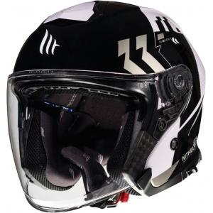 Otevřená přilba na motorku MT Thunder 3 SV Venus černo-šedo-bílá