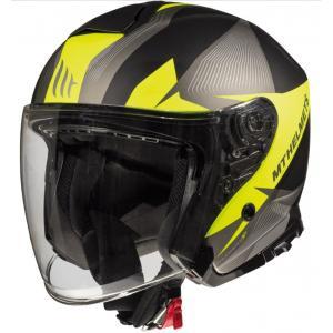 Otevřená přilba na motorku MT Thunder 3 SV Wing černo-šedo-fluo žlutá výprodej