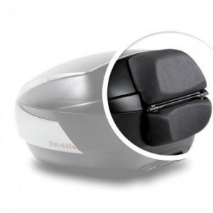 Vrchní kufr na motorku SHAD SH48 Tmavě šedý vč. opěrky, karbonového víka a zámku PREMIUM lock
