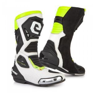 Boty na motorku Eleveit SP-01 bílo-černo-fluo žluté