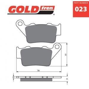 Brzdové destičky GOLDFREN 023 K5
