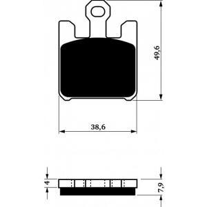 Brzdové destičky GOLDFREN 200 S3 (4ks v sadě)