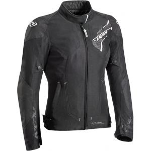 Dámská bunda na motorku IXON Luthor černo-bílá výprodej