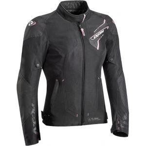 Dámská bunda na motorku IXON Luthor černo-růžová výprodej
