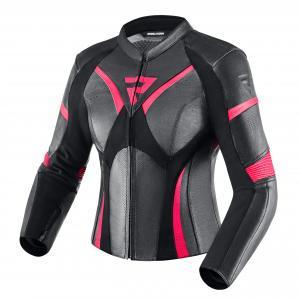 Dámská bunda na motorku Rebelhorn Rebel černo-růžová