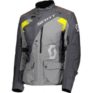 Dámská bunda na motorku SCOTT Dualraid Dryo šedo-žlutá výprodej