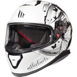 Dámská integrální přilba na motorku MT Thunder 3 SV Vlinder bílo-černá