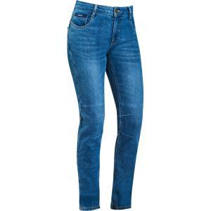 Dámské jeansy na motorku IXON Cathelyn seprané modré