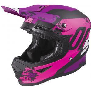 Dětská motokrosová přilba Shot Furious Shadow růžovo-fialová