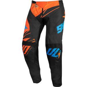 Dětské motokrosové kalhoty Shot Devo Ventury černo-oranžovo-modré