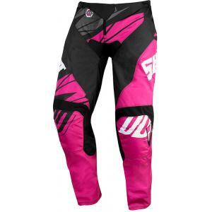 Dětské motokrosové kalhoty Shot Devo Ventury růžovo-černo-bílé
