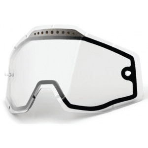 Dvojité čiré plexi pro motokrosové brýle 100% Racecraft/Accuri/Strata