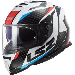 Integrální přilba na motorku LS2 FF800 Storm Racer černo-bílo-červeno-modrá