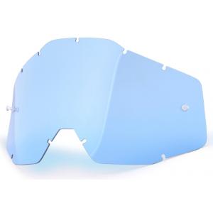 Modré plexi pro motokrosové brýle 100% Racecraft/Accuri/Strata