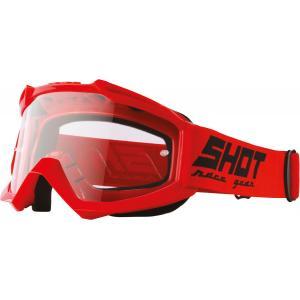 Motokrosové brýle Shot Assault Solid červené