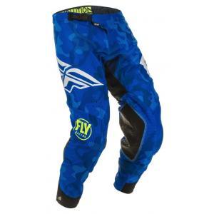Motokrosové kalhoty FLY Racing Evolution modro-bílé
