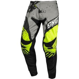 Motokrosové kalhoty Shot Contact Shadow šedo-černo-fluo žluté