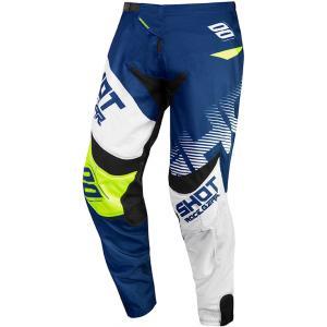 Motokrosové kalhoty Shot Contact Trust modro-bílo-fluo žluté výprodej