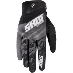 Motokrosové rukavice Shot Devo Ventury černo-bílo-šedé