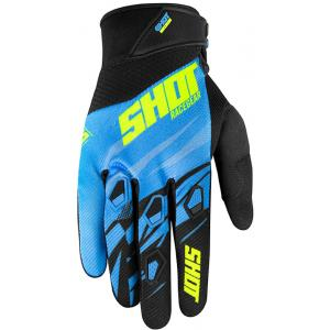Motokrosové rukavice Shot Devo Ventury modro-černo-fluo žluté výprodej