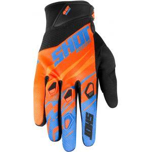 Motokrosové rukavice Shot Devo Ventury oranžovo-černo-modré výprodej