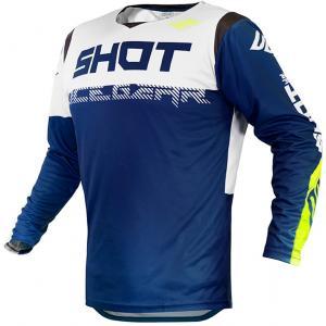 Motokrosový dres Shot Contact Trust modro-bílo-fluo žlutý