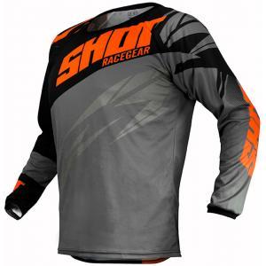 Motokrosový dres Shot Devo Ventury černo-šedo-fluo oranžový