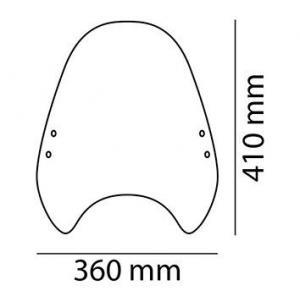 Plexi štít PUIG CUSTOM II 0336W průhledný univerzální