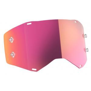 Růžové zrcadlové sklo do motokrosových brýlí SCOTT Prospect/Fury