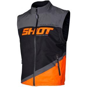 Softshellová vesta Shot Lite černo-šedo-fluo oranžová