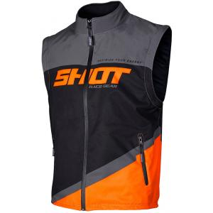 Softshellová vesta Shot Lite černo-šedo-fluo oranžová výprodej