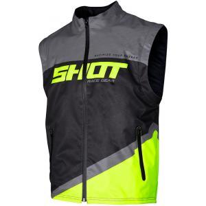 Softshellová vesta Shot Lite černo-šedo-fluo žlutá