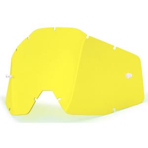 Žluté plexi pro motokrosové brýle 100% Racecraft/Accuri/Strata